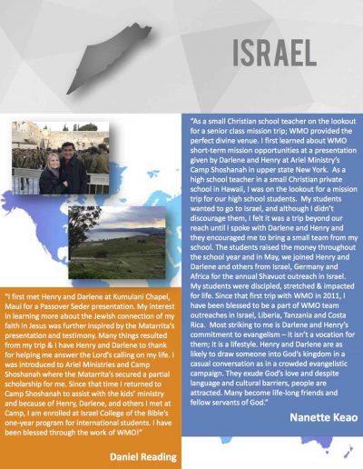 World-Mission-Testimonies - Israel
